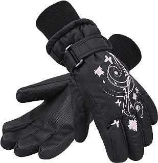 SimpliKids Girl's Waterproof 3M Thinsulate Insulation Ski Snowboard Gloves