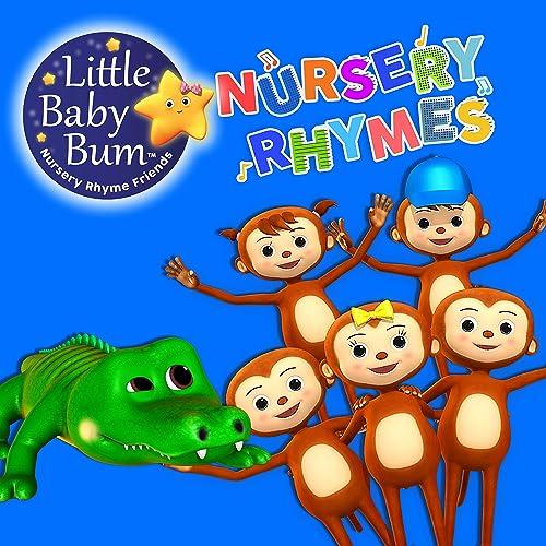 5 Little Monkeys Swinging In The Tree By Little Baby Bum