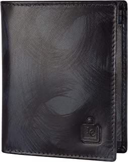 Le Craf Men's Genuine Leather RFID Blocking Wallet Blue Comes in a Gift Box