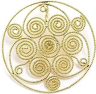 Marrocu Gioielli - Ciondolo Oro Spirali in Filigrana