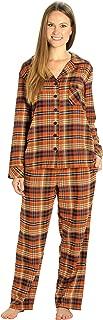 EVERDREAM Sleepwear Womens Flannel Pajamas, Long 100% Cotton Pj Set