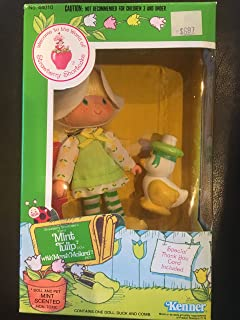 Vintage Mint Tulip (1979) (Doll, Hat, Outfit, Tights, & Shoes) - Strawberry Shortcake (Retired) Doll - Collectible Replacement Toy - Loose (OOP Out of Package & Print)