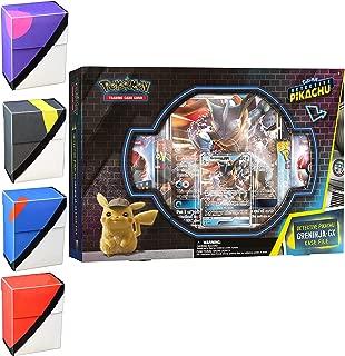 Detective Pikachu Greninja-Gx Case File: Pokemon TCG: 2 Greninja Foil Trading Cards + 7 Booster Pack + 1 Assorted Pokeball Inspired Deck Box