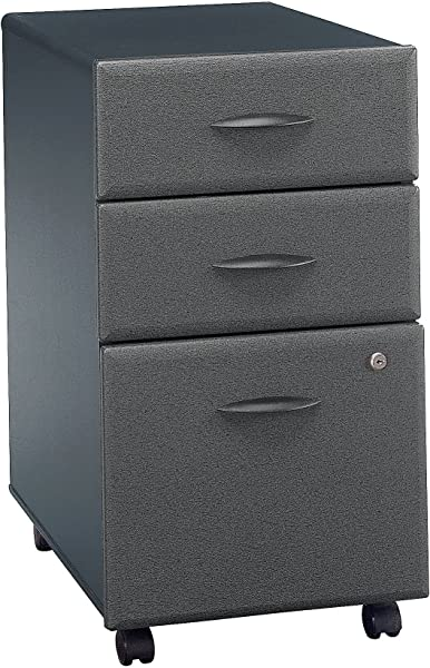 Bush Business Furniture WC84853P Series A 3 Drawer Mobile File Cabinet Slate
