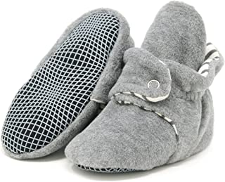 Ella Bonna Mini Fleece Booties with Non Skid Bottom | Flexible | for Baby Boys Girls Toddlers