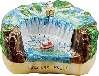Niagara Falls Maid of The Mist Canada New York Polish Glass Christmas Ornament Travel Souvenir