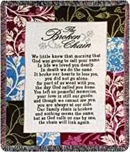 Manual Inspirational Collection 50 x 60-Inch Tapestry Throw, Broken Chain Poem