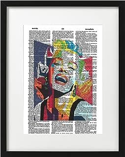 Signature Studios Marilyn Monroe Art Print Abstract Marilyn Monroe Poster Dictionary Art Print 8x10