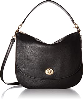 COACH Women's Polished Pebble Updated Turnlock Hobo