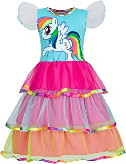 Unicorn Sleeveless Princess Birthday Party Dress