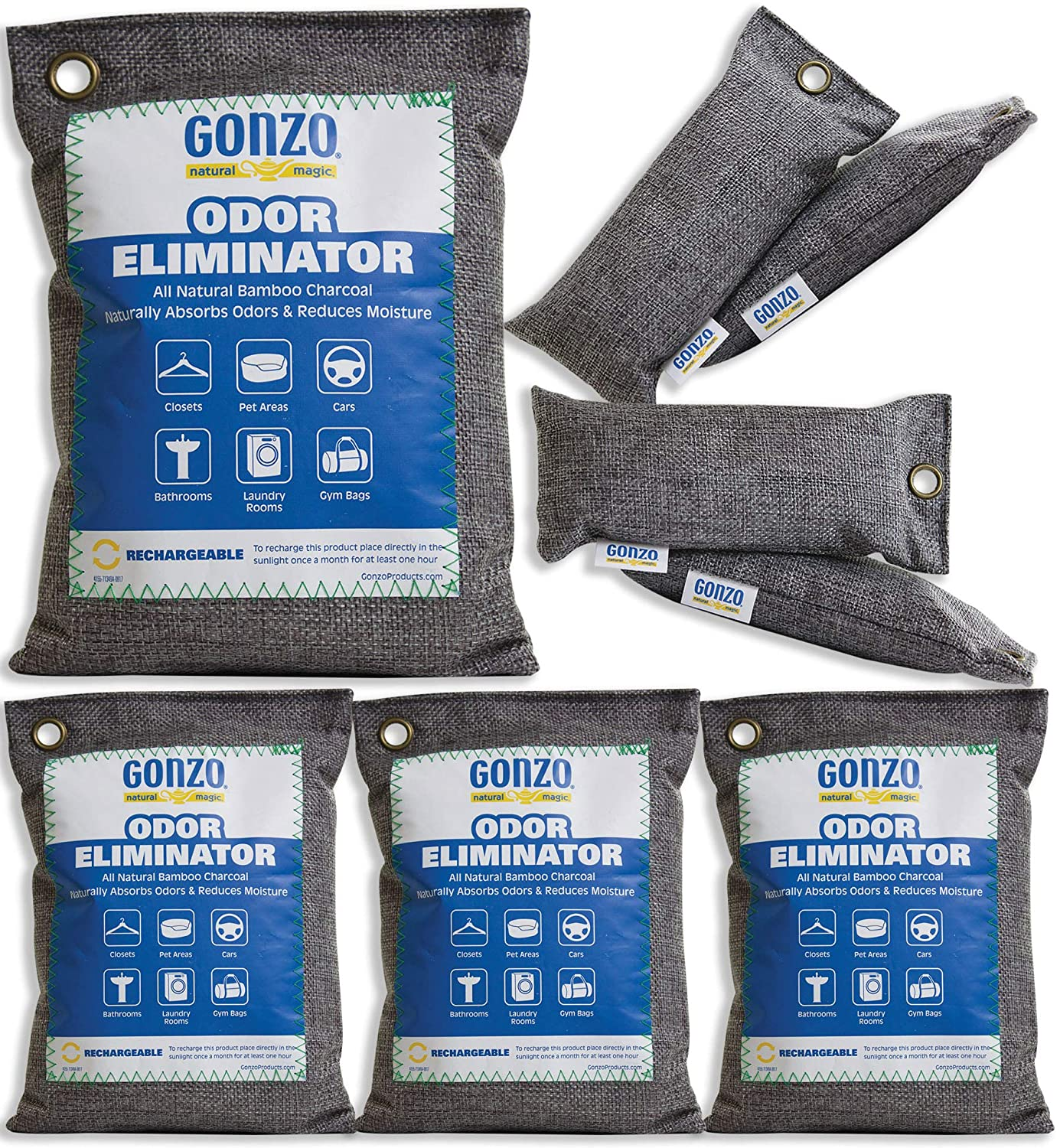Gonzo Bamboo Charcoal 4 Medium Bags Grams Choice and 250 25% OFF Gr 75 Small