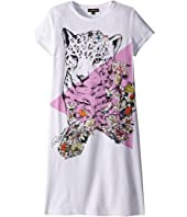 Roberto Cavalli Kids - Short Sleeve Leopard Graphic T-Shirt Dress (Big Kids)