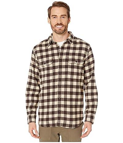 Filson Vintage Flannel Work Shirt (Brown/Tan/Chalk) Men