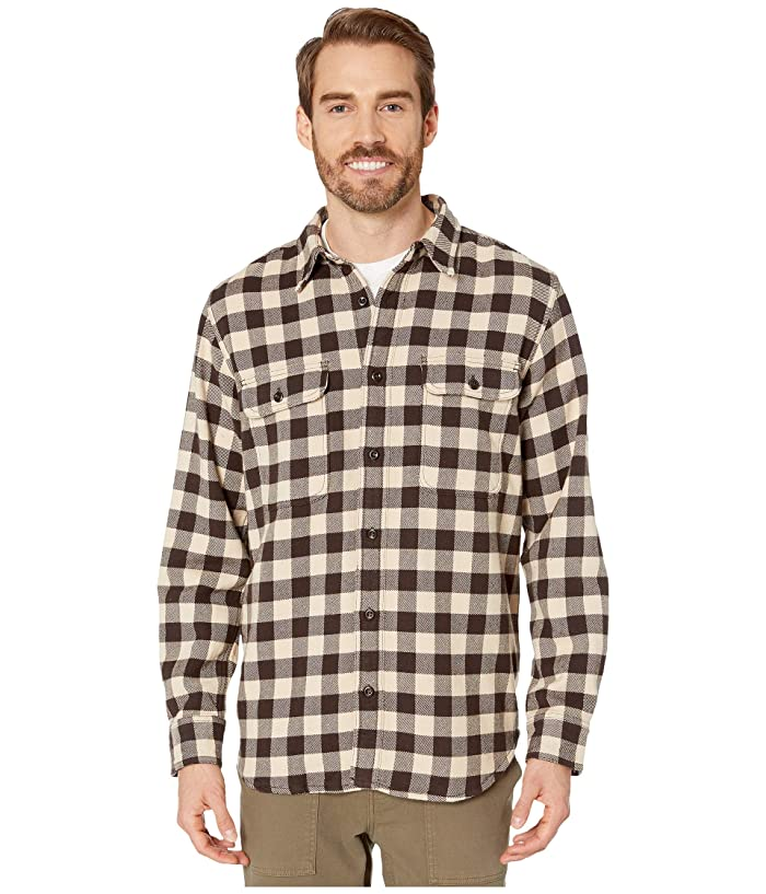 1960s – 70s Mens Shirts- Disco Shirts, Hippie Shirts Filson Vintage Flannel Work Shirt BrownTanChalk Mens Clothing $100.99 AT vintagedancer.com