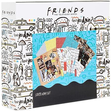 Friends Serie TV Kit Scrapbooking Avec Materiel, Coffret 60 Accessoires Pour Loisirs Créatifs Adultes Ado Ou Enfant avec Album Photo Scrap Book et Autocollants, Kit Créatif Original, Idée Cadeau