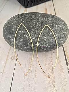 14 Karat Gold Filled Open Arc Hoop Earrings