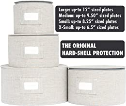 In This Space Twill Hard Shell Round Plates Protector (Set of 4)