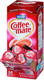 Coffee-Mate 42498CT Liquid Coffee Creamer, Cinnamon Vanilla, 0.375 oz Mini Cups, (4 Boxes of 50)
