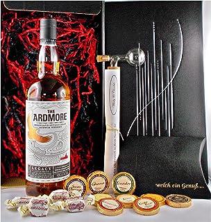 Geschenk Ardmore Legacy Single Malt Whisky  Glaskugelportionierer  Edelschokolade  Fudge
