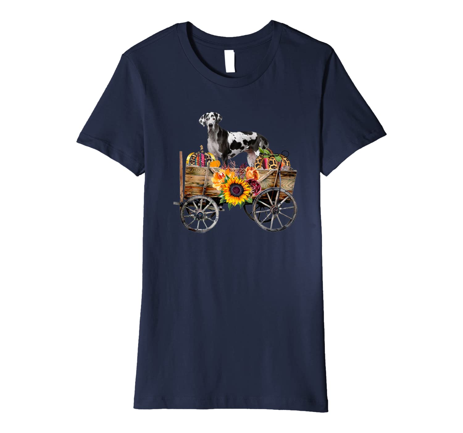 Womens Great Dane Clothing – Large Dog in Country Wagon Premium T-Shirt