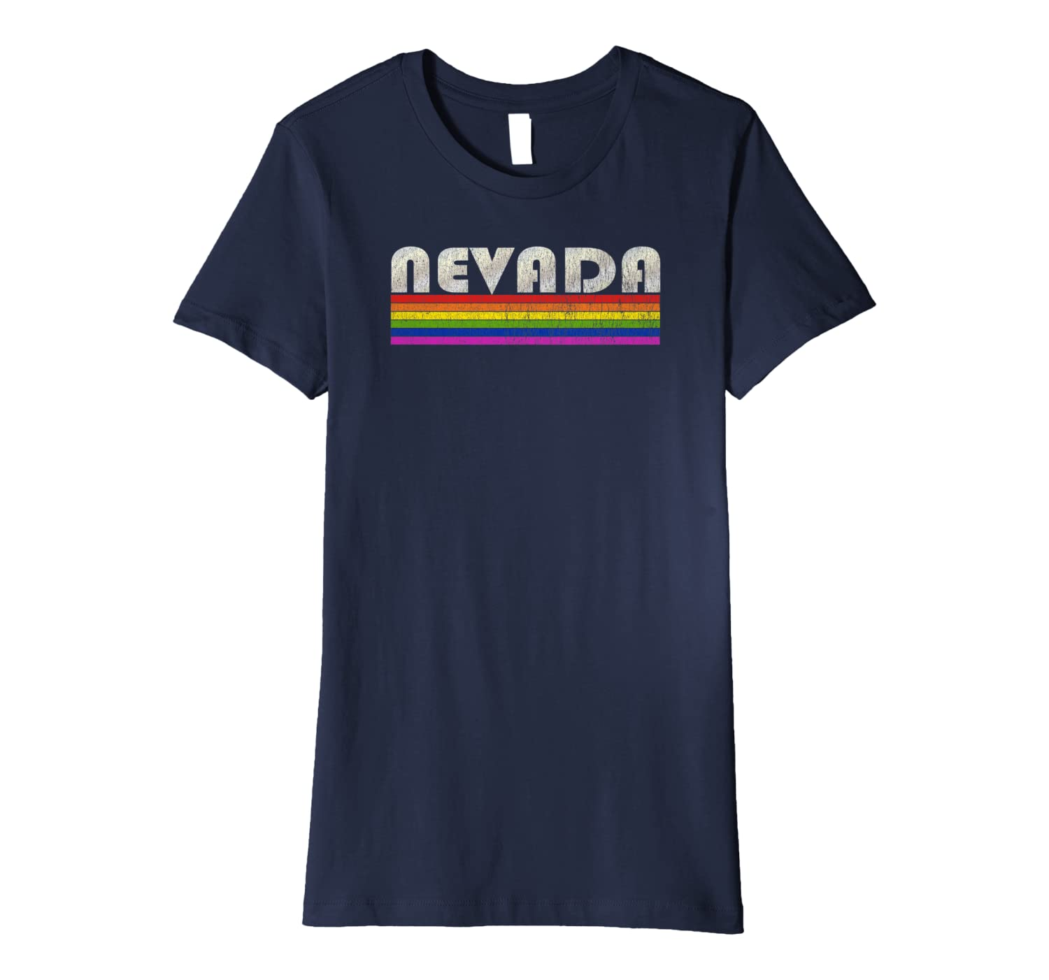 Vintage 80's Style Nevada Gay Pride Month Premium T-Shirt-Yolotee