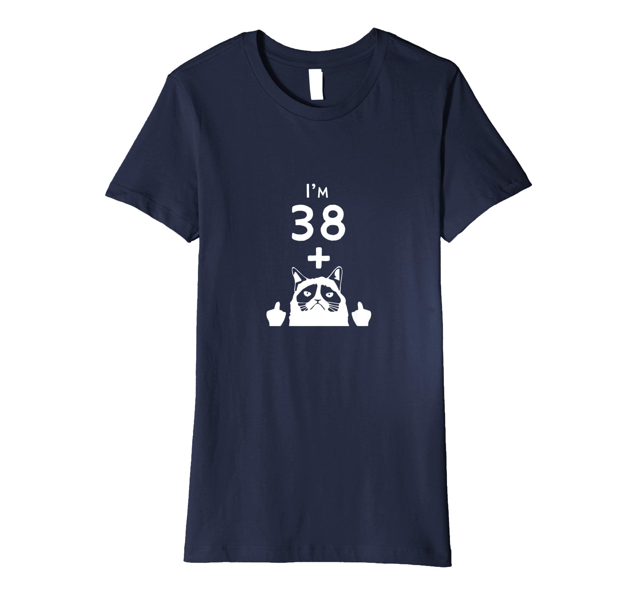 531f1445 Amazon.com: Funny 40th Birthday Gift Cat Joke T-Shirt: Clothing