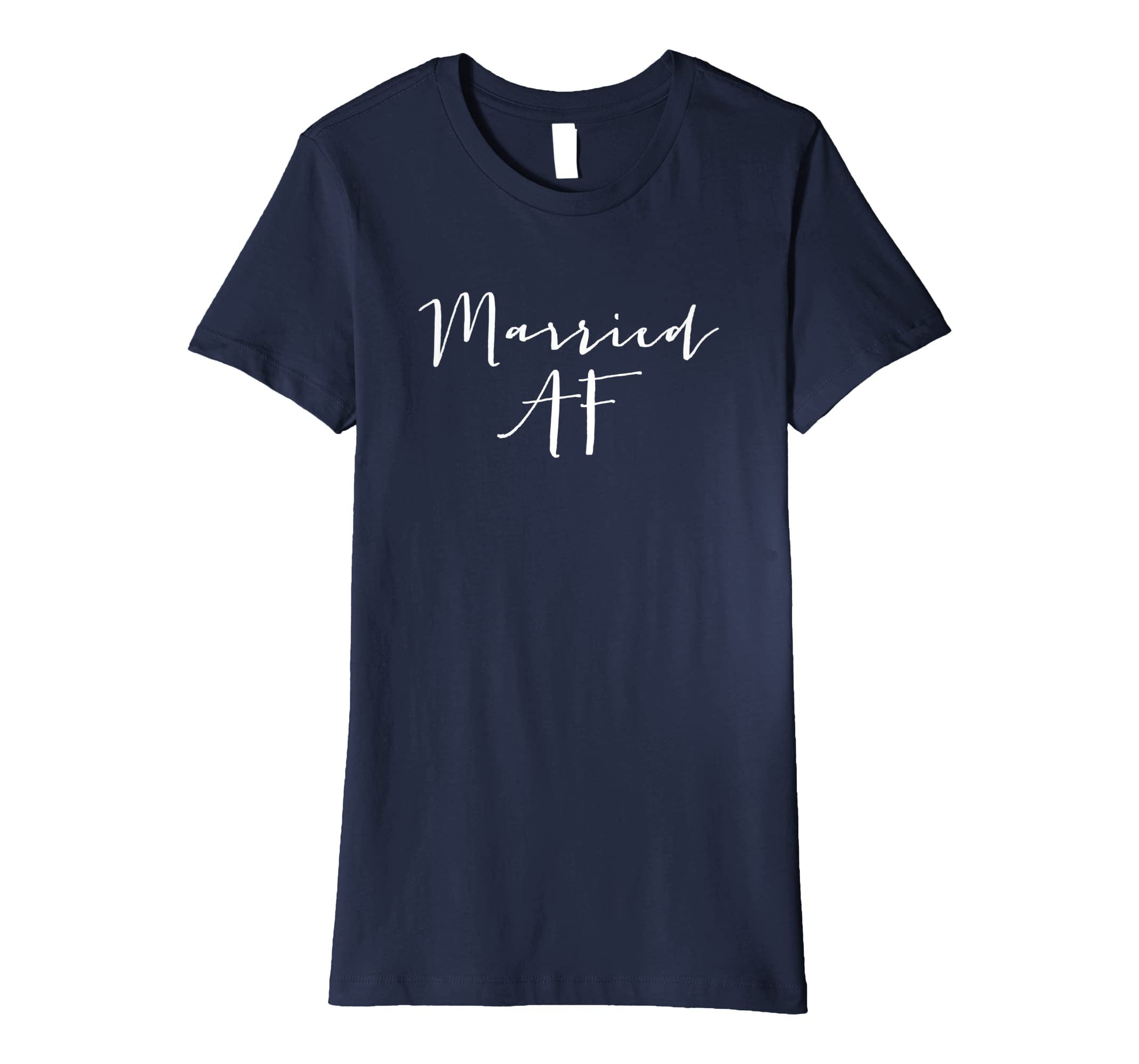 a7c7311ae86a Amazon.com  Women s Married AF Shirt T Tee Just Married Couples Tshirt   Clothing