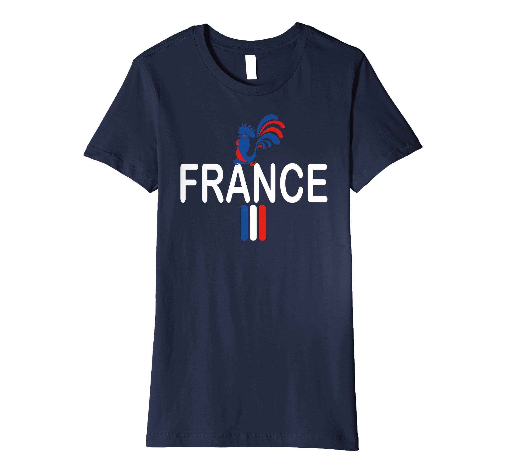 c3665bc63 Amazon.com  France Soccer Jersey Shirt France Football Team T-Shirt   Clothing