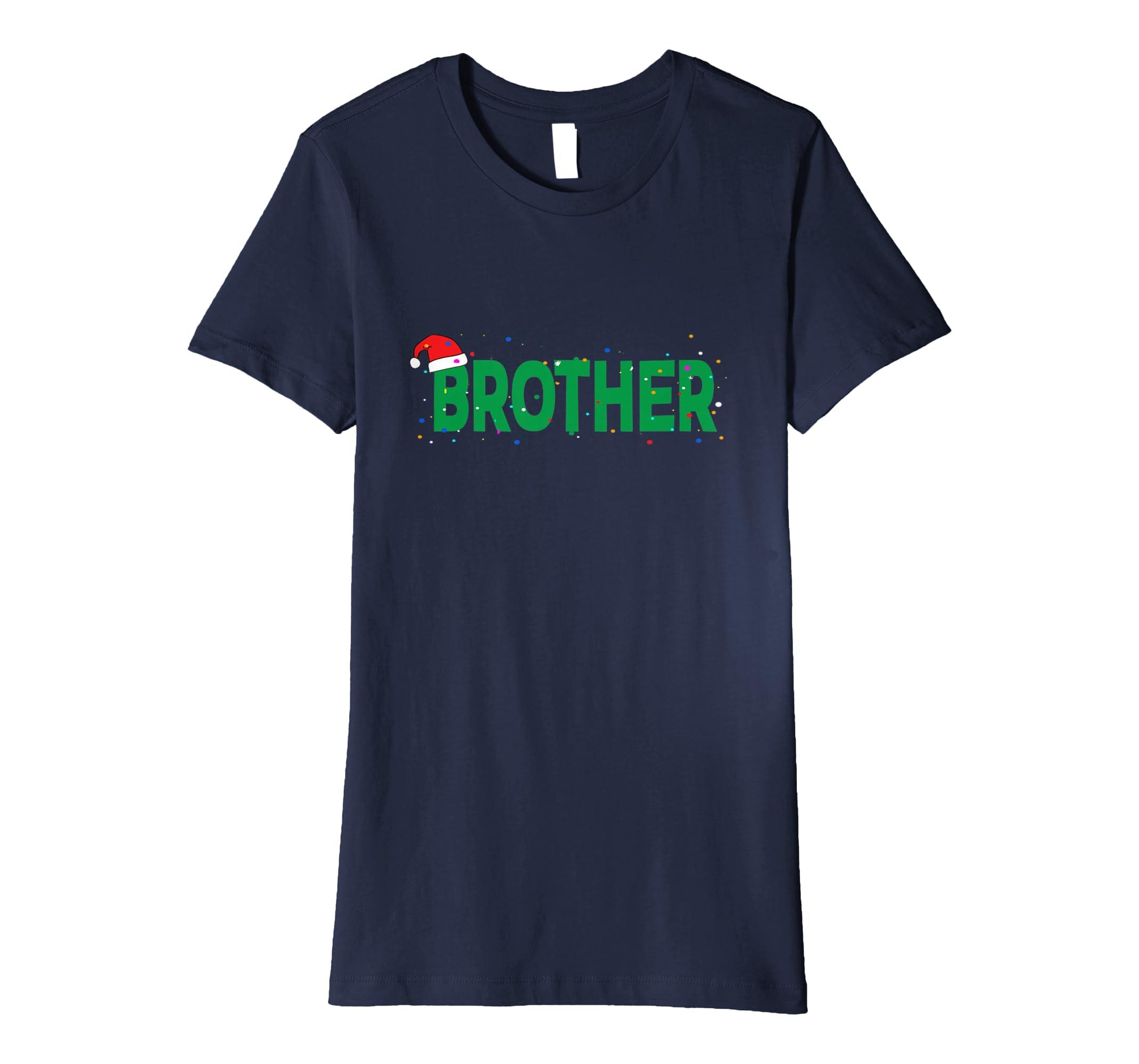 Amazon.com  Brother Christmas Santa Family Matching Pajamas Gift T-Shirt   Clothing 1e4f6a5d6