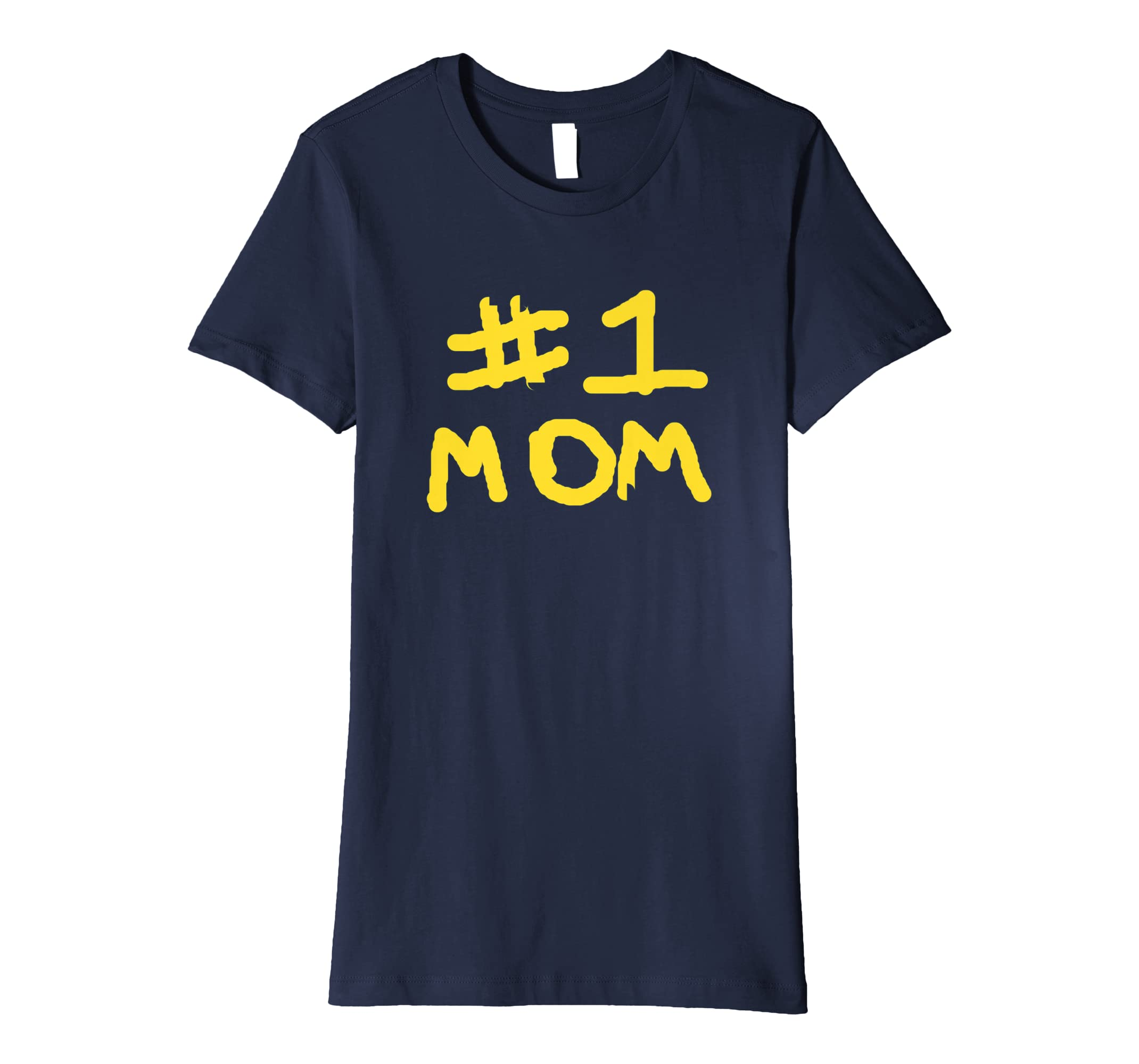 9086f7f69c47e Amazon.com: Number One Mom #1 Mom Child Finger Paint Look T Shirt ...