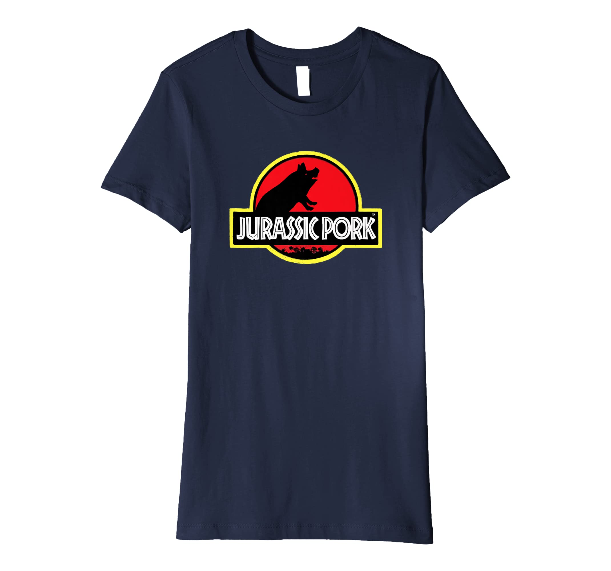 560932e6ea Amazon.com: Funny Jurassic Pork Pig Tee Shirt.: Clothing