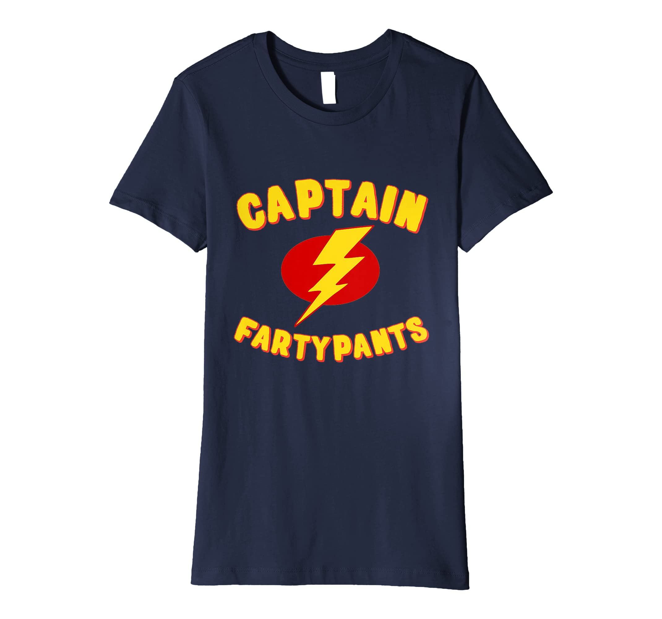 bab2df8a6 Amazon.com: Captain Fartypants Funny Fart T-Shirt: Clothing