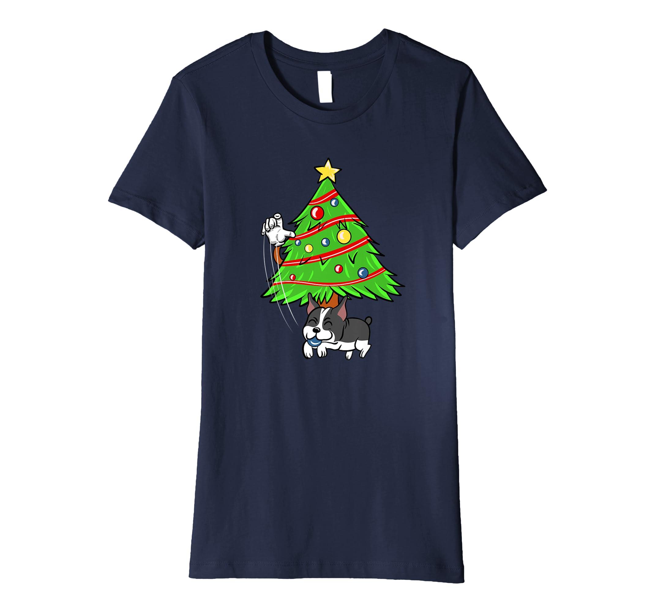 Boston Terrier Christbaumkugel Weihnachten T-Shirt: Amazon.de ...