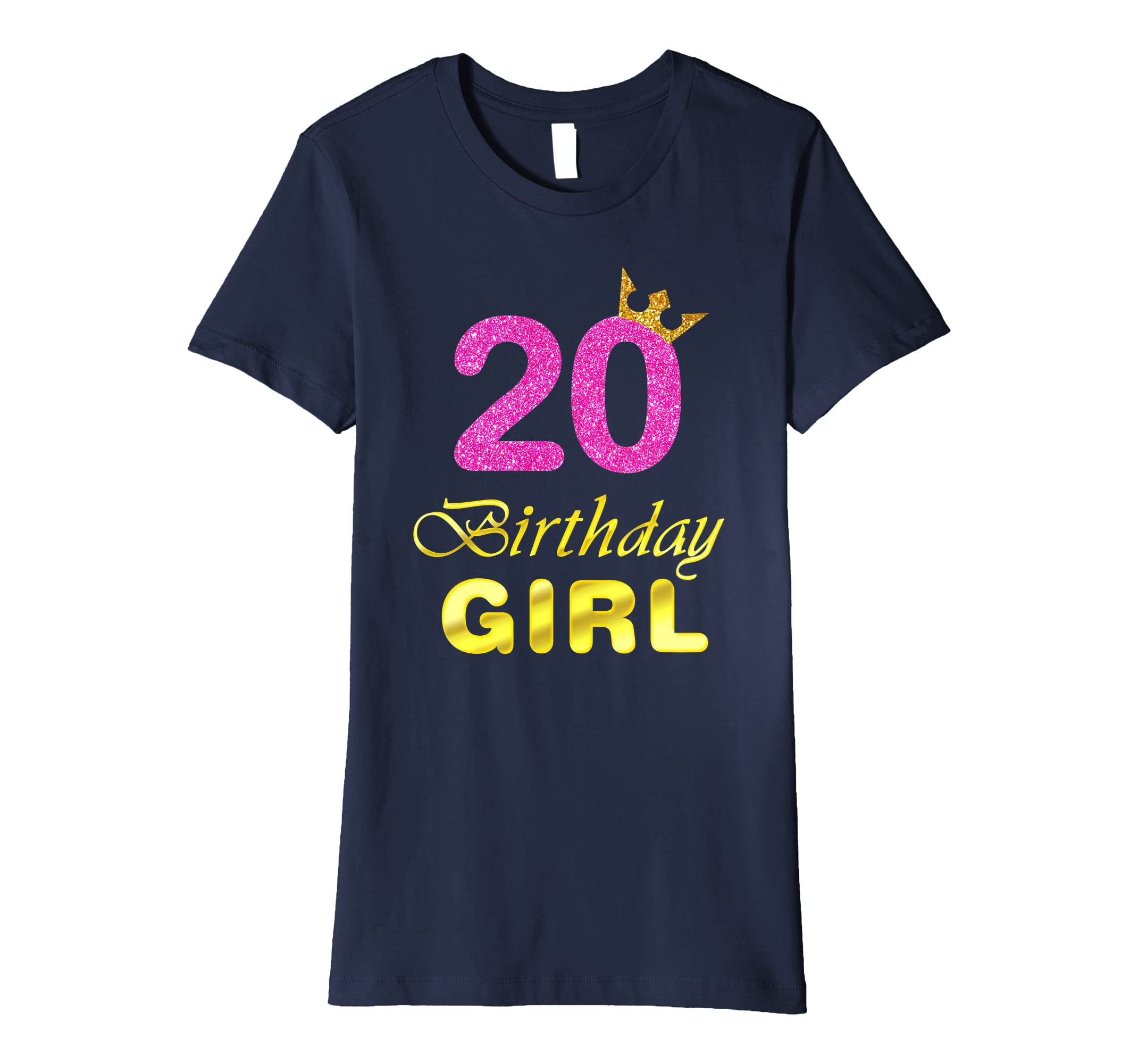 Amazon Gift For 20 Years Old Shirt 20th Golden Birthday Girl Clothing