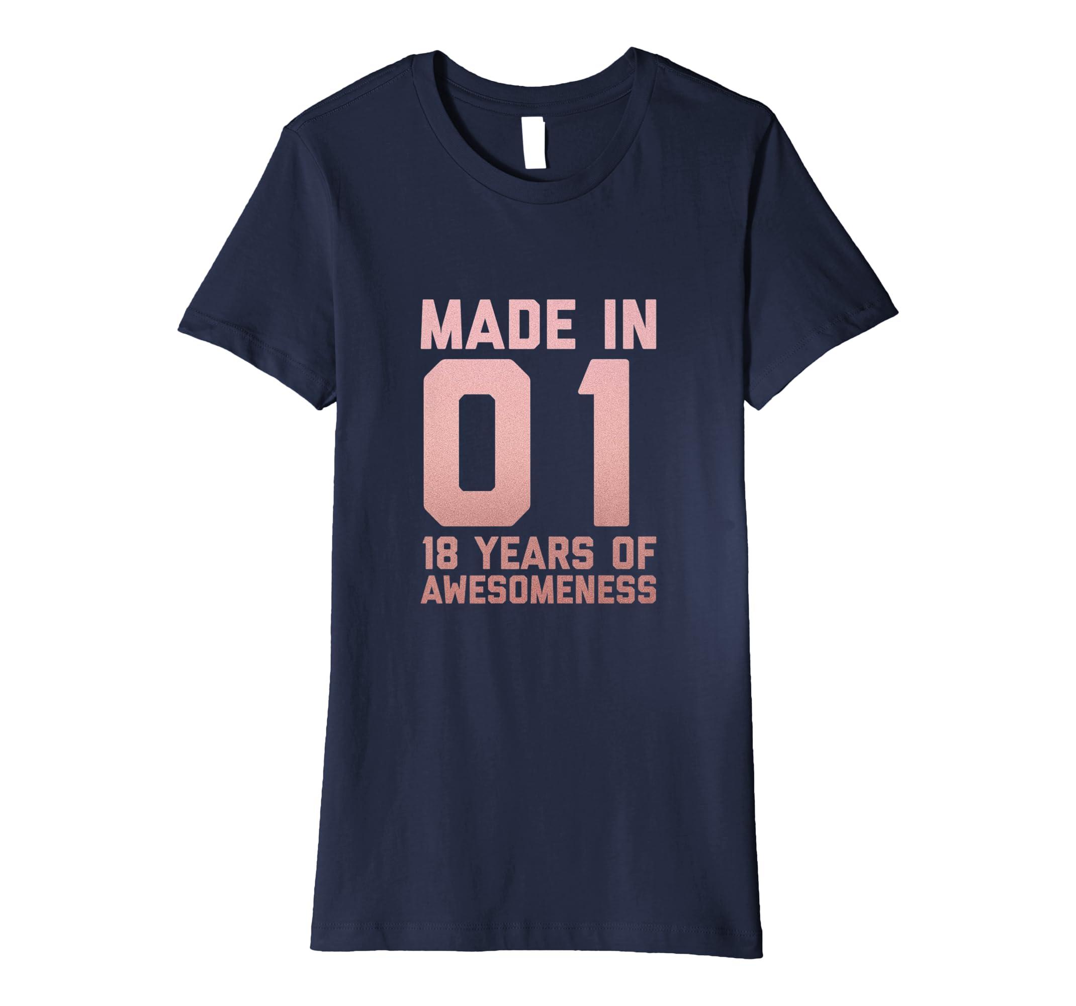 Amazon 18th Birthday Shirt Girl Teens Gift Eighteen Year Old Niece Clothing