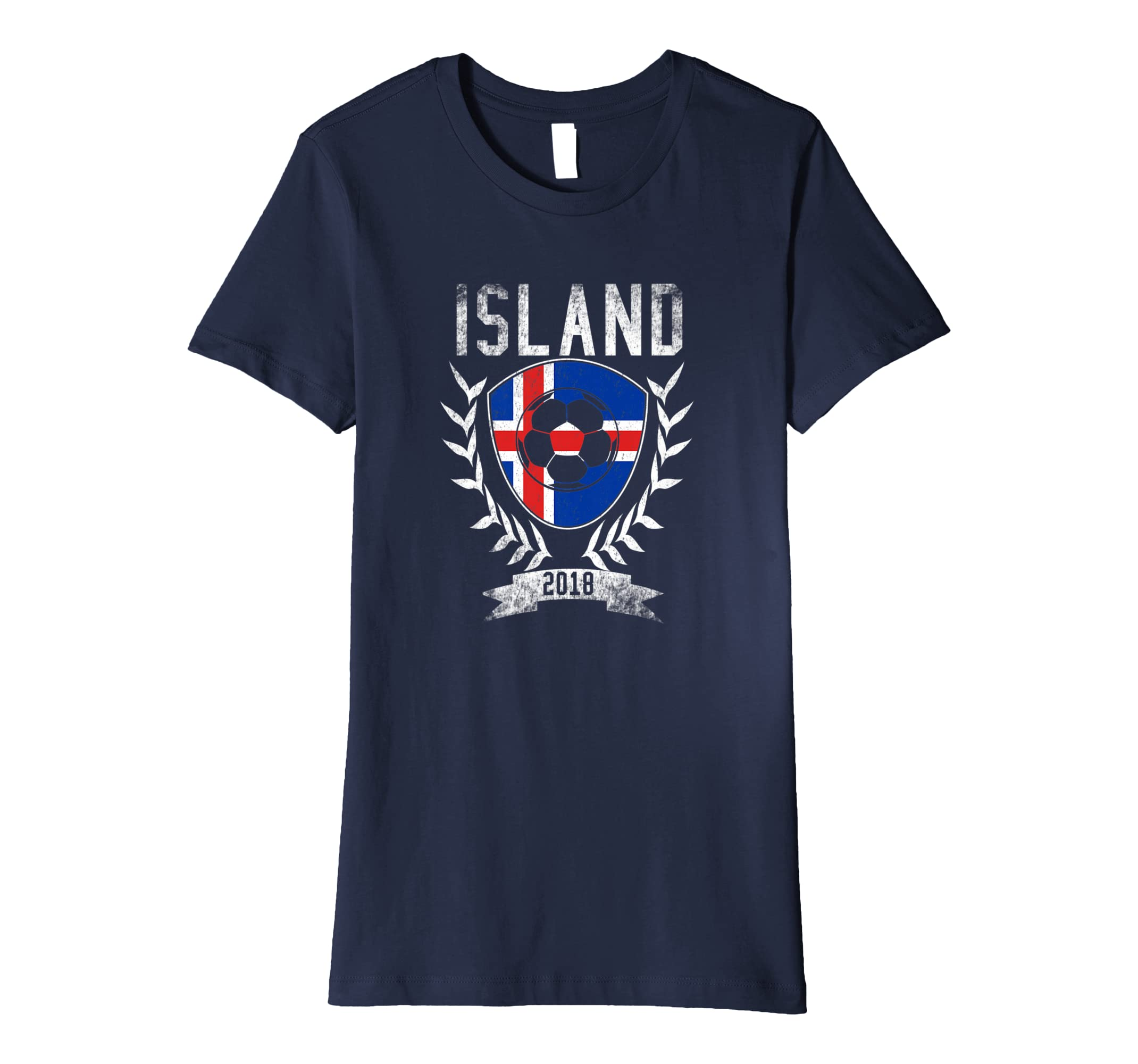 5d1874b8a97 Amazon.com  Icelandic Football Cup 2018 T-Shirt - Iceland Soccer Jersey   Clothing