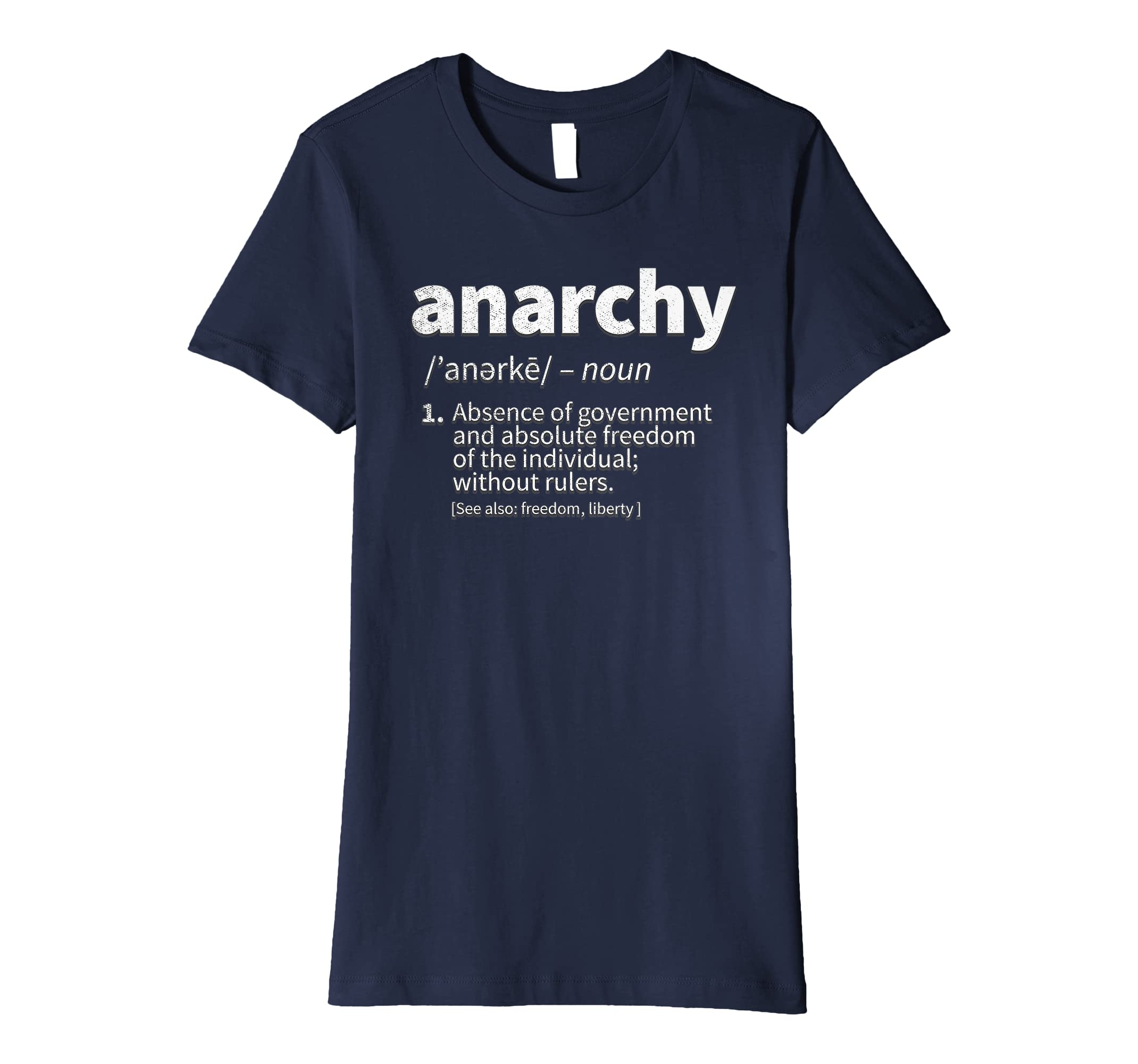 cb7ba4db6 Amazon.com: Anarcho Capitalist Shirt for a Libertarian Anarchist: Clothing