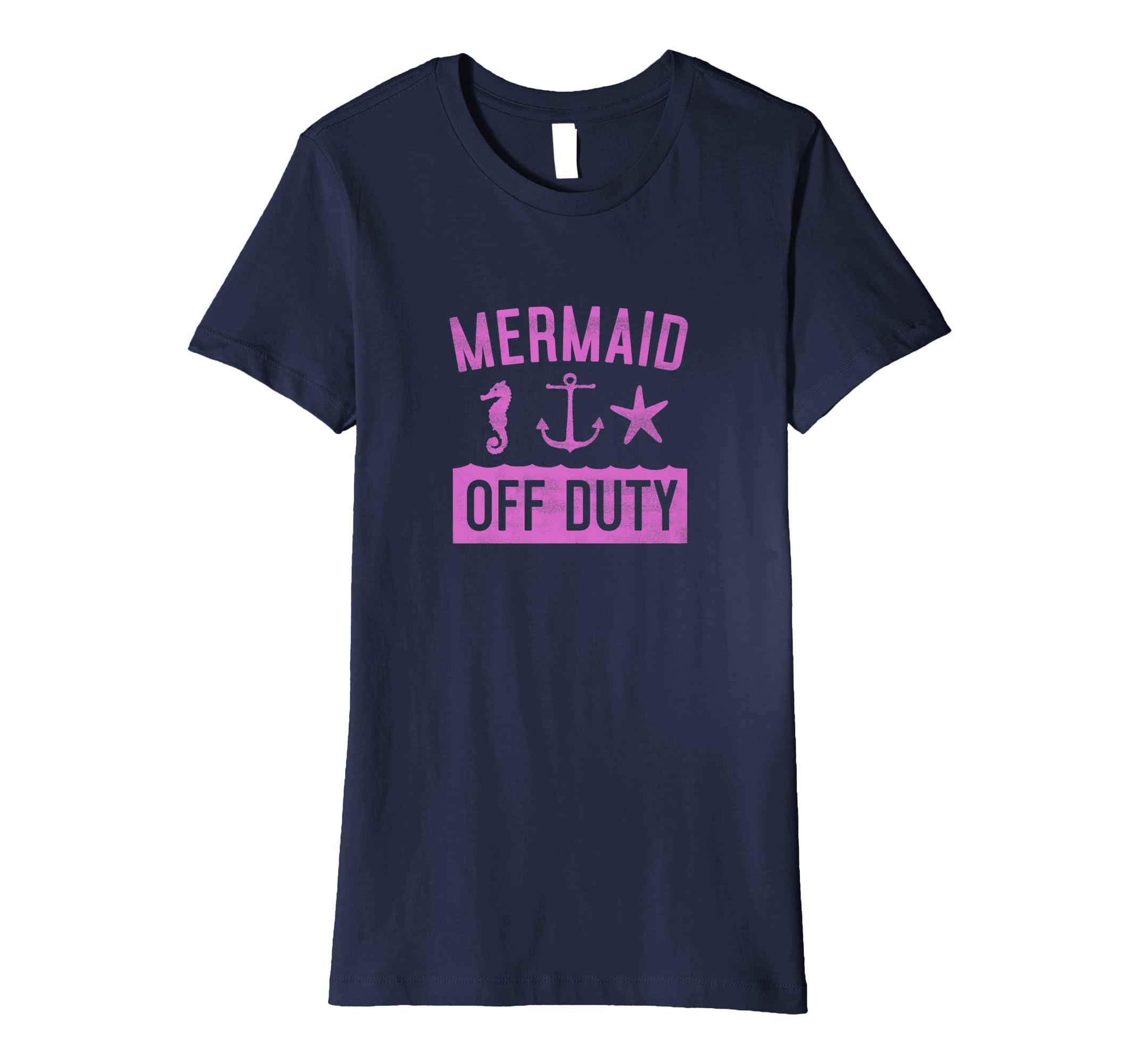 Meerjungfrau Off Duty Shirt Nautische Mythologie Anker T-Shi: Amazon ...
