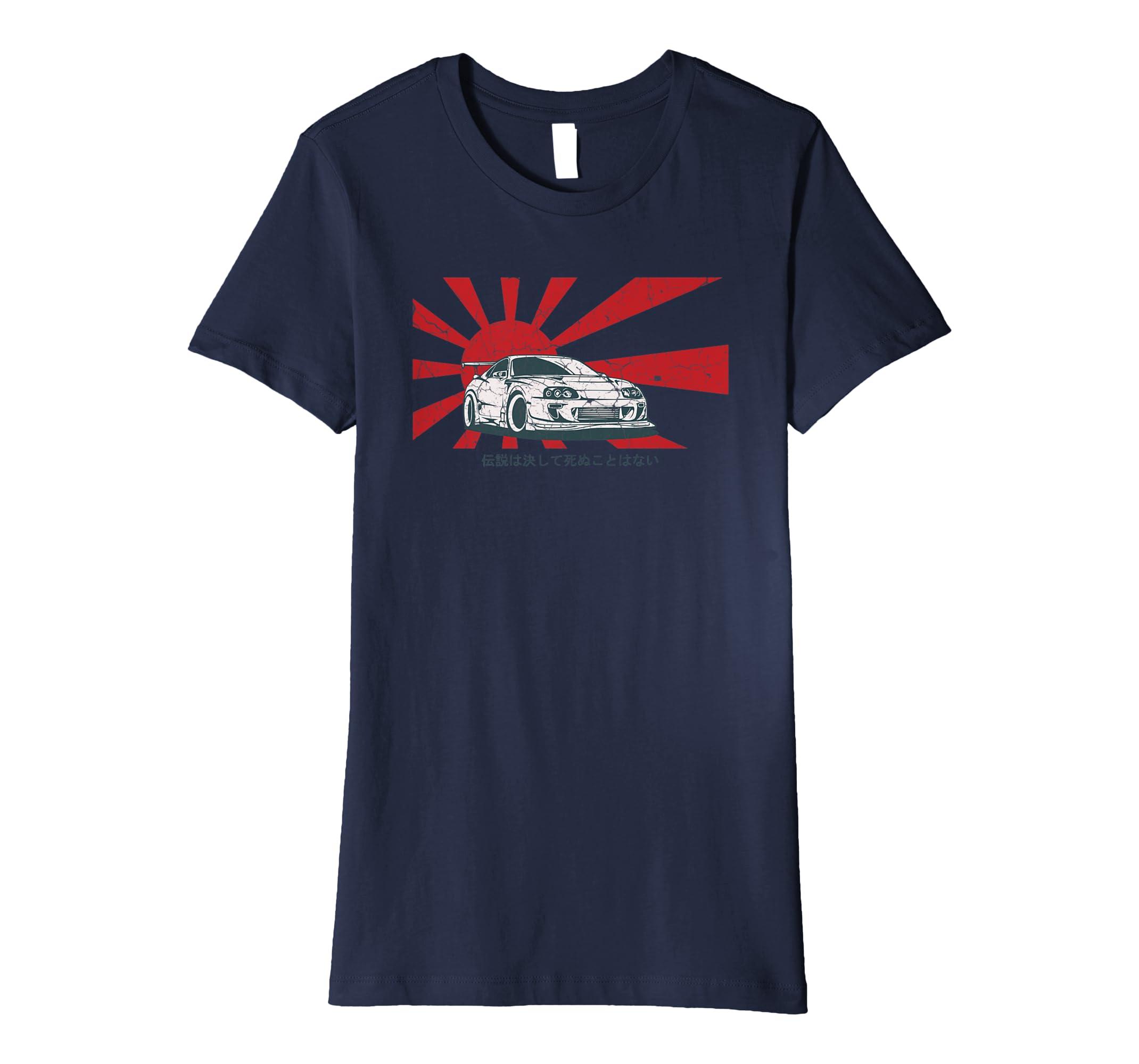 cbeb45bd92 Amazon.com: Automotive Apparel: Legends Never Die, JDM Street T-Shirt:  Clothing