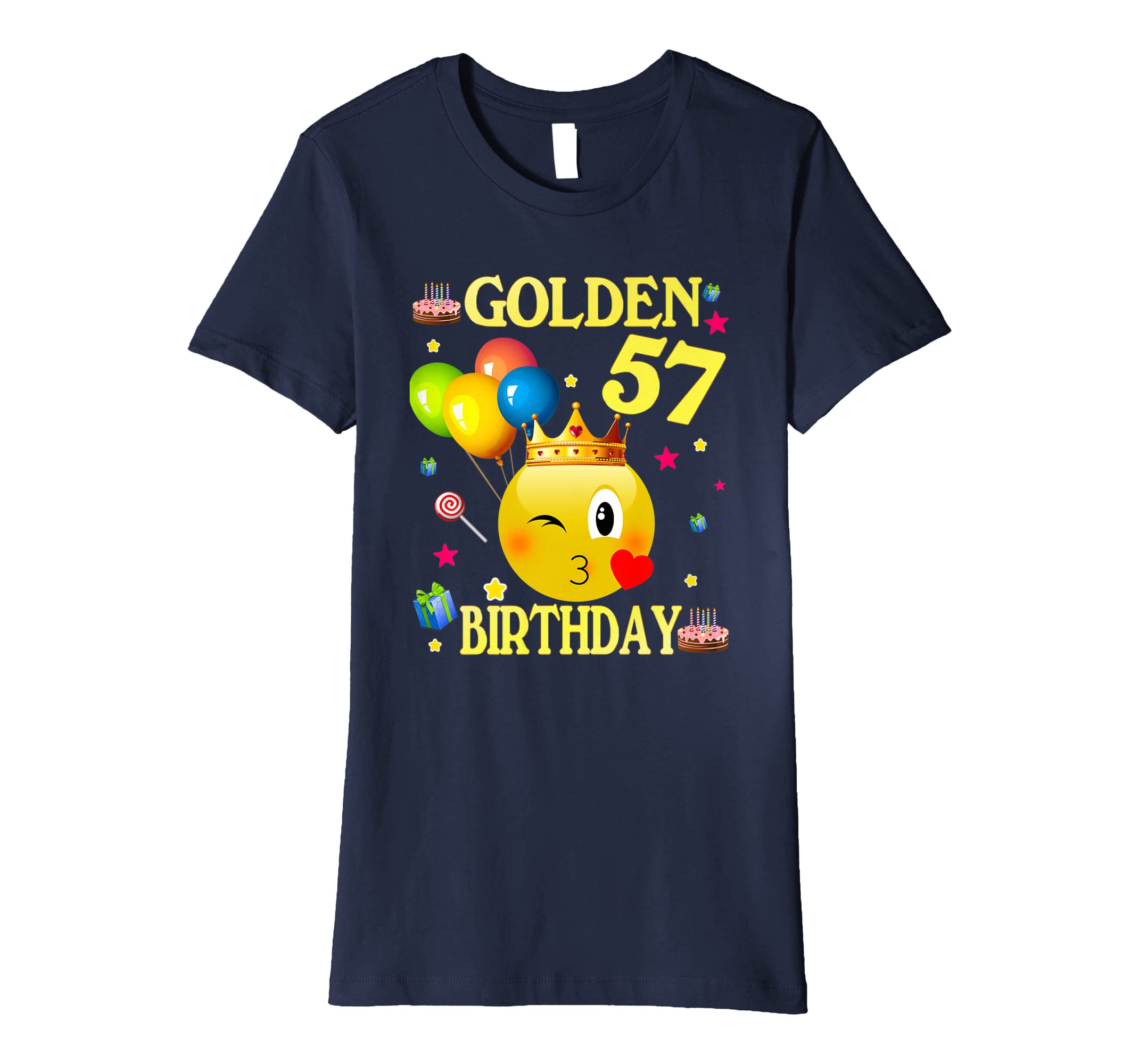 Amazon 57 Years Old Golden Birthday Shirt 57th Decorations Clothing