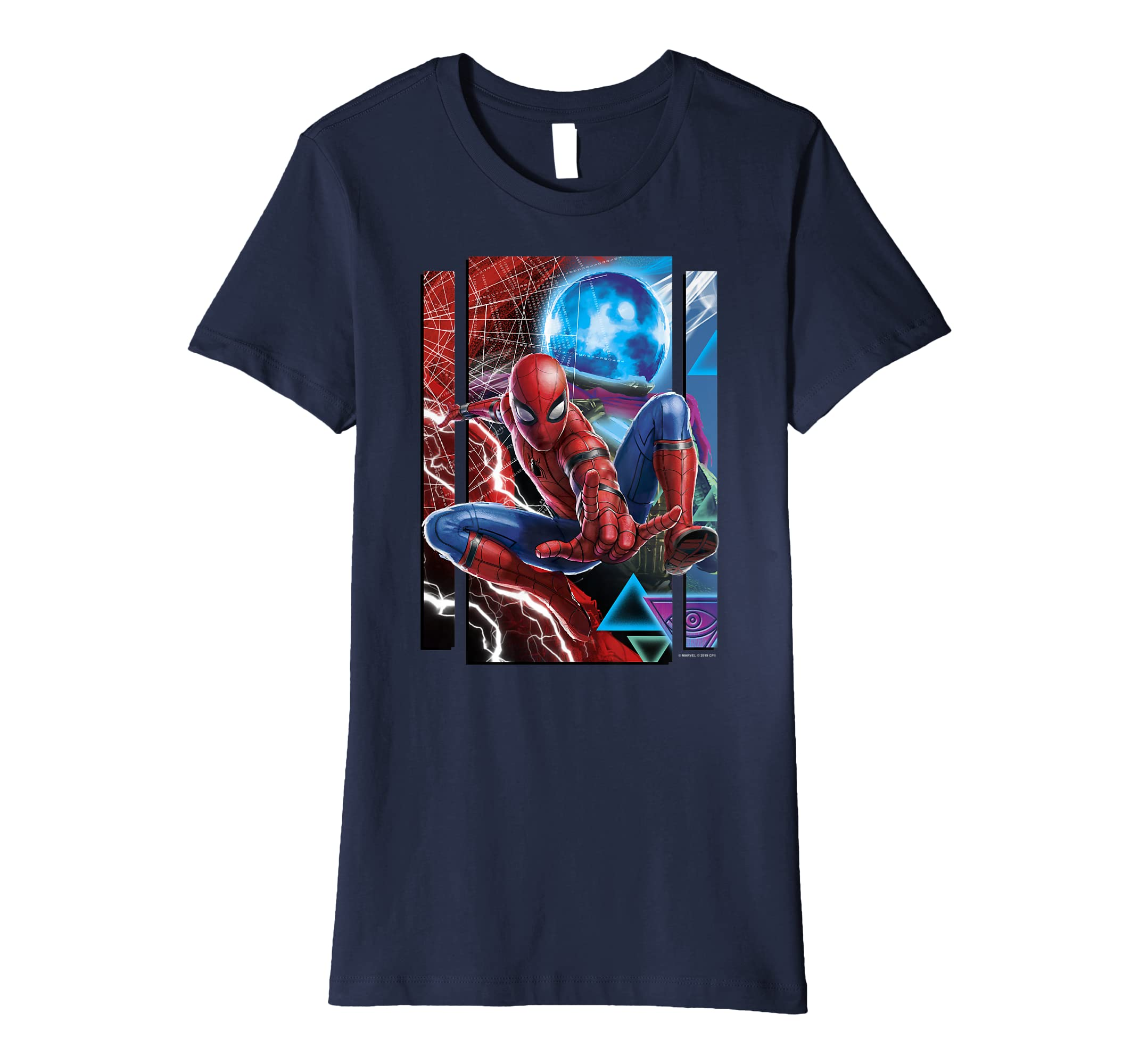 95910b458 Amazon.com: Marvel Spider-Man Far From Home Mysterio And Spidey Portrait  Premium T-Shirt: Clothing