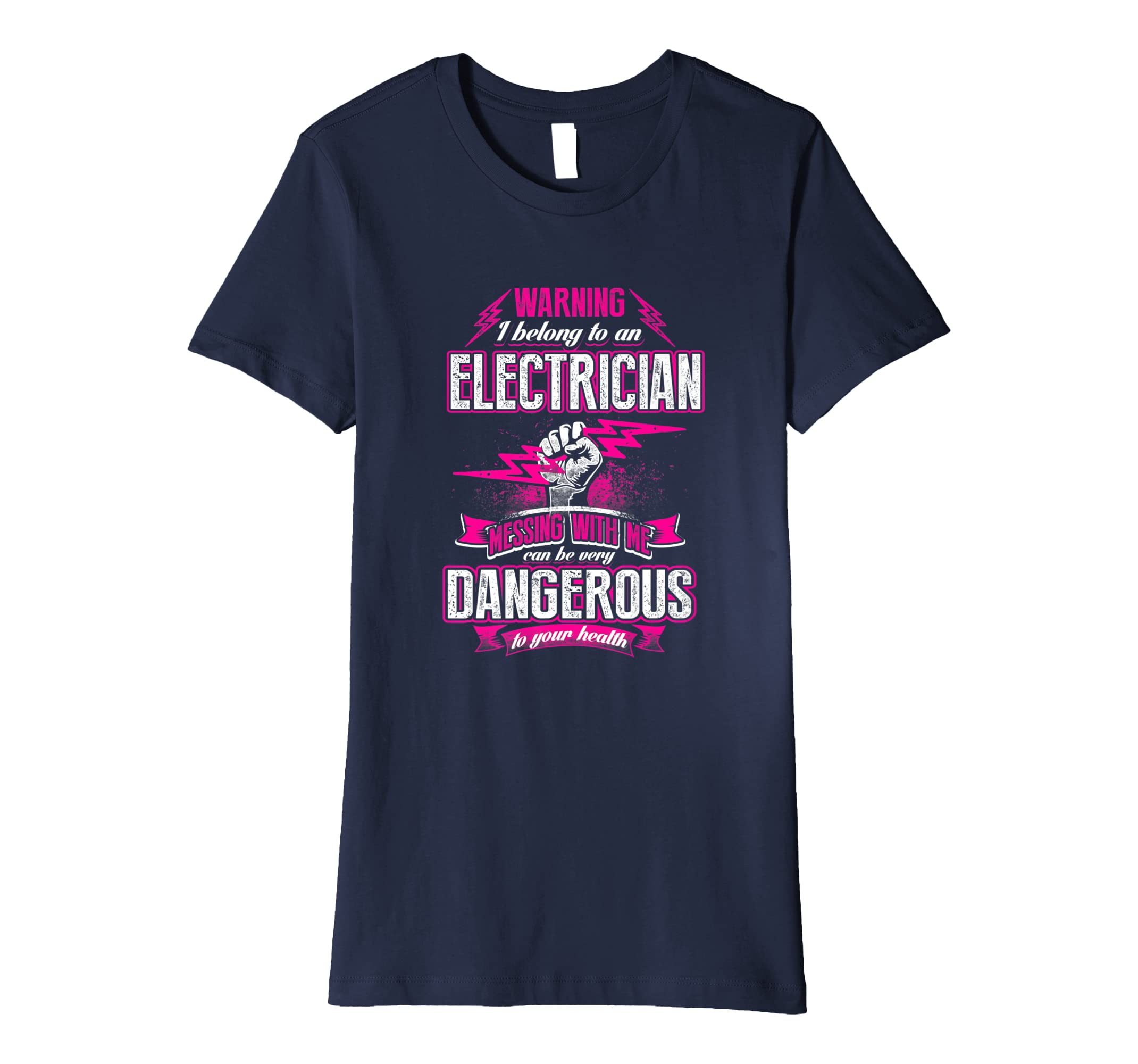 8608bd30a Amazon.com: Womens Proud Wife of a Electrician- Funny Electrician Wife T  Shirt: Clothing