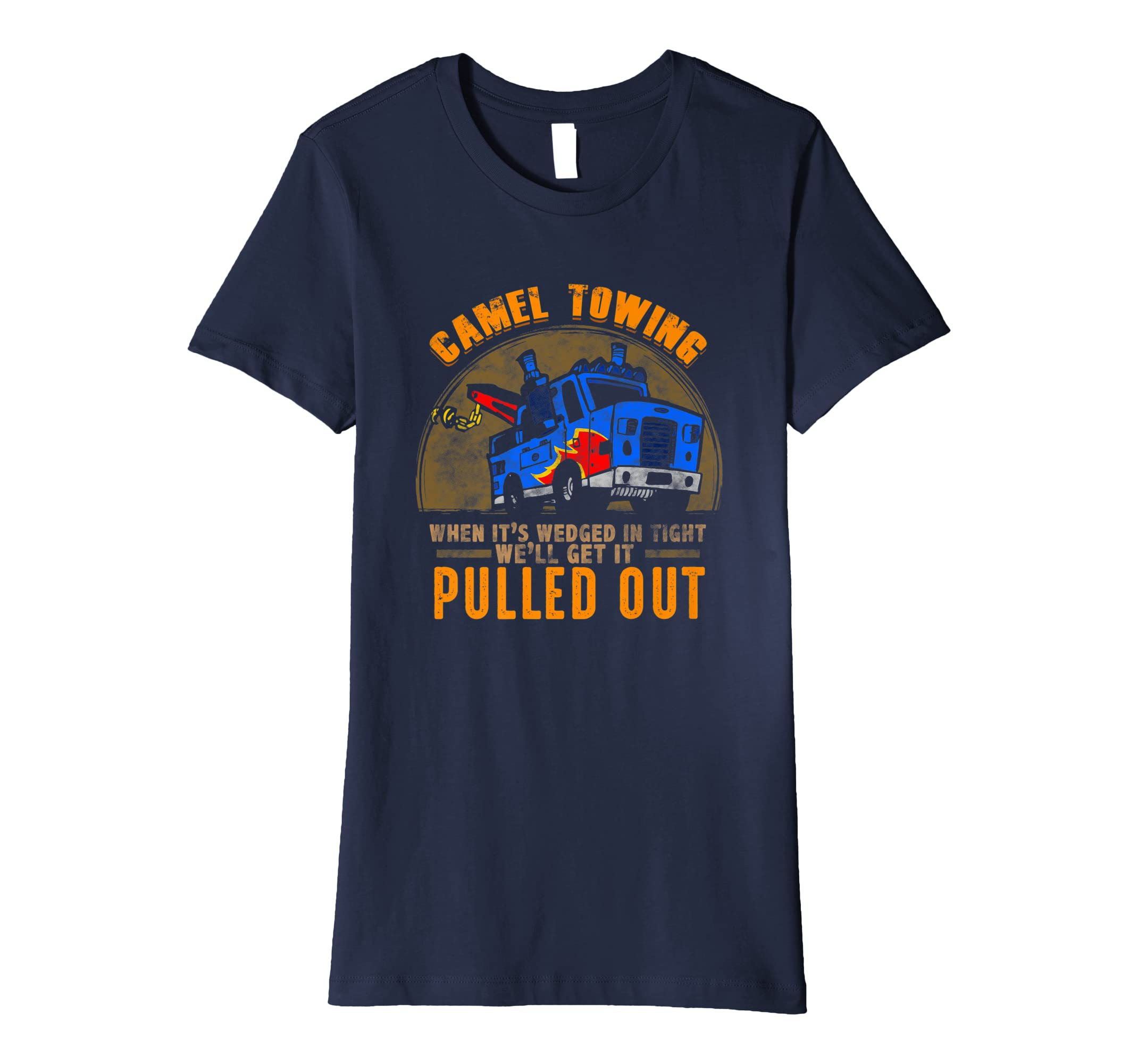 a38ec751 Amazon.com: Funny Camel Tow Truck T-Shirt: Clothing
