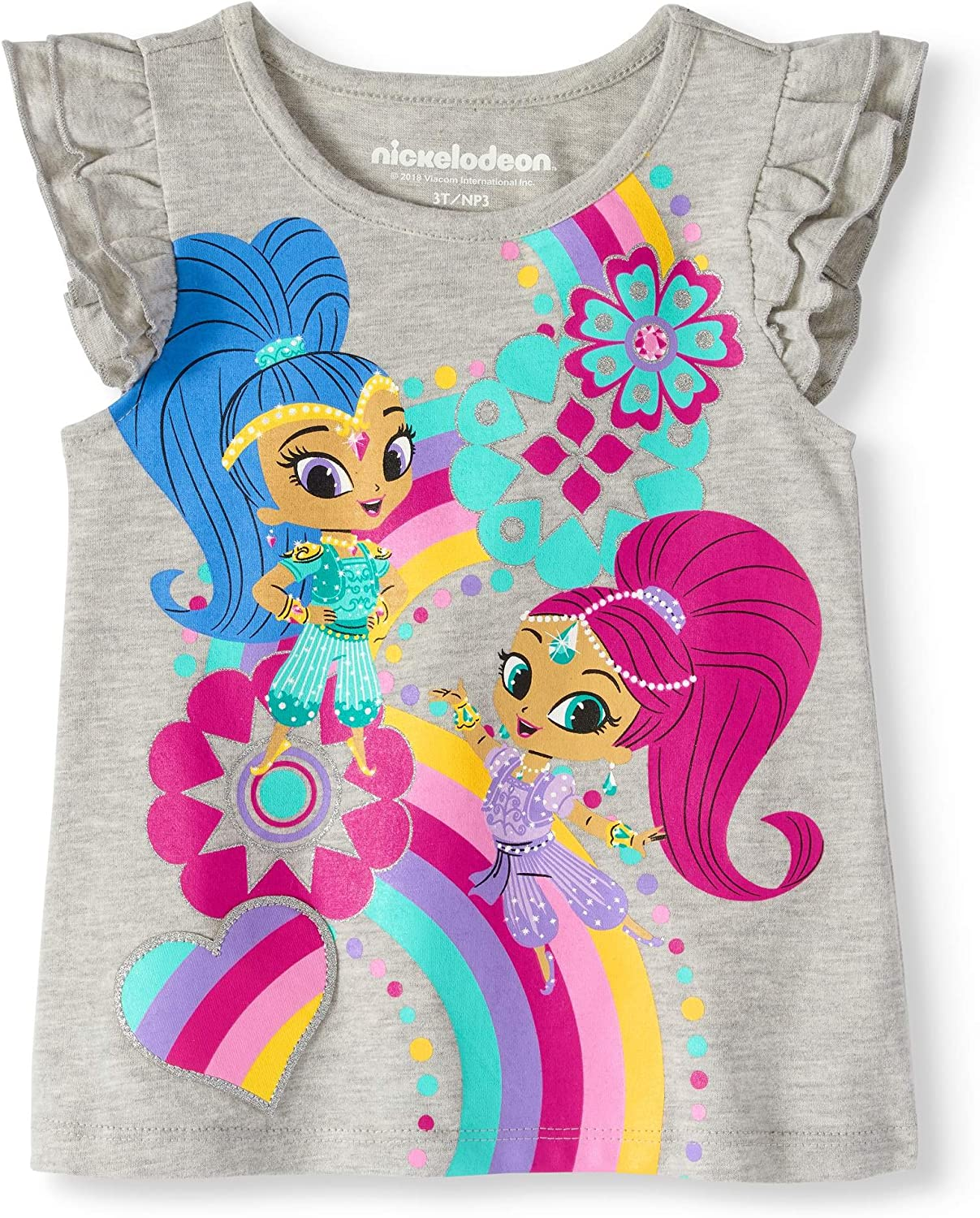 Nickelodeon Shimmer and Shine Girl's for Shirt Short wholesale Attention brand Sleeves Tee