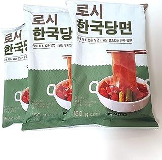 Extra Wide Glass Noodle, 5.2oz(150g) pack of 3 for Korean Mukbang, Tteokbokki, Malatang Shabu Hot Pot