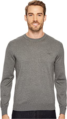 100% Cotton Jersey Crew Neck Sweater