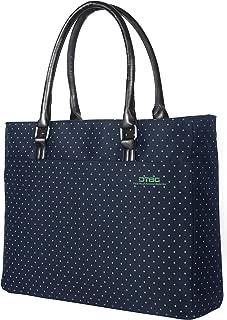 Laptop Tote Bag, DTBG 15.6 Inch Women Shoulder Bag Nylon Briefcase Casual Handbag Laptop Case for 15-15.7 Inch Tablet/Ultra-Book/MacBook/Chromebook - Green