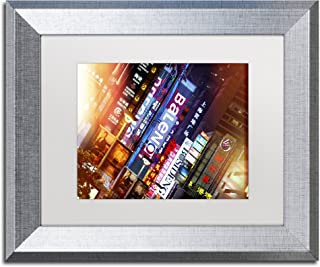 Neon Signs by Philippe Hugonnard, White Matte, Silver Frame 11x14-Inch