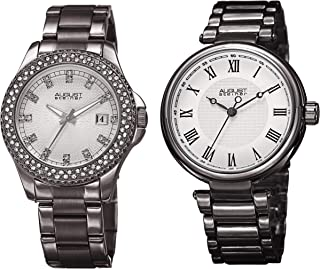 August Steiner Women's Quartz Watch, Analog Display and Stainless Steel Strap As8240Gn-S