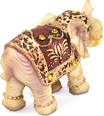 Feng Shui Vintage 3(H) Elephant Wealth Lucky Figurine Home Decor Housewarming Gift US Seller